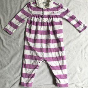 Ralph Lauren Striped Cotton One-piece